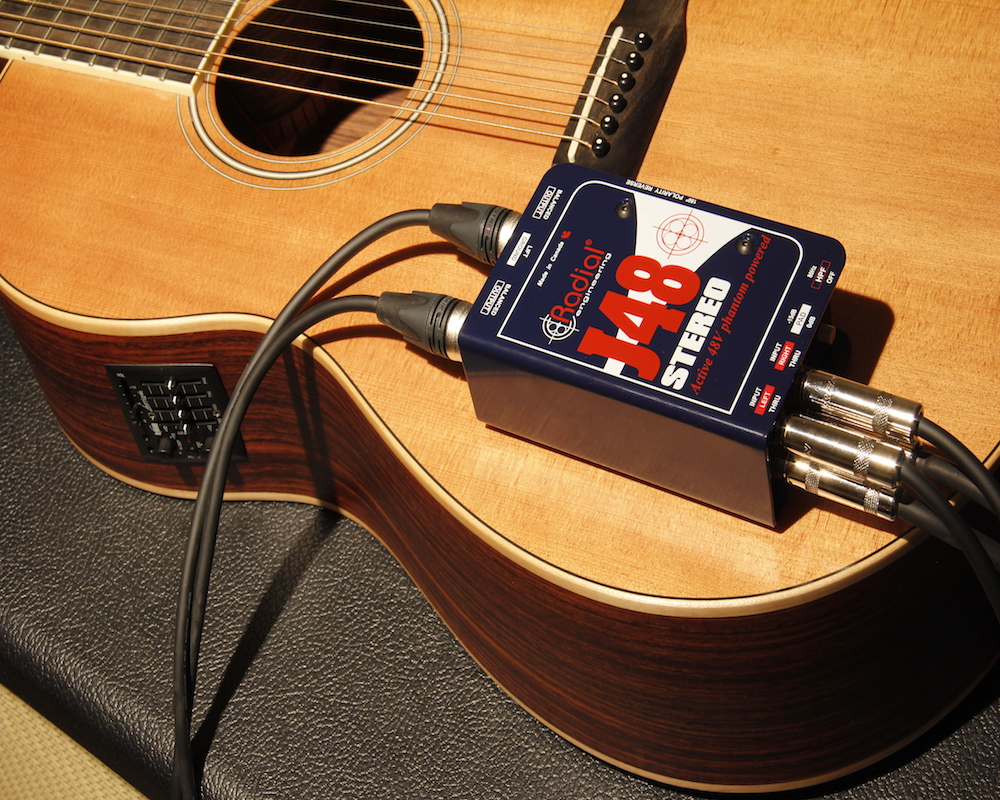 J48 Stereo with acoustic guitar
